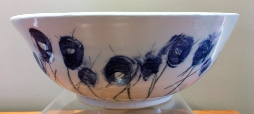 Ceramic bowl, Joanie Cribben and Kim Dewall