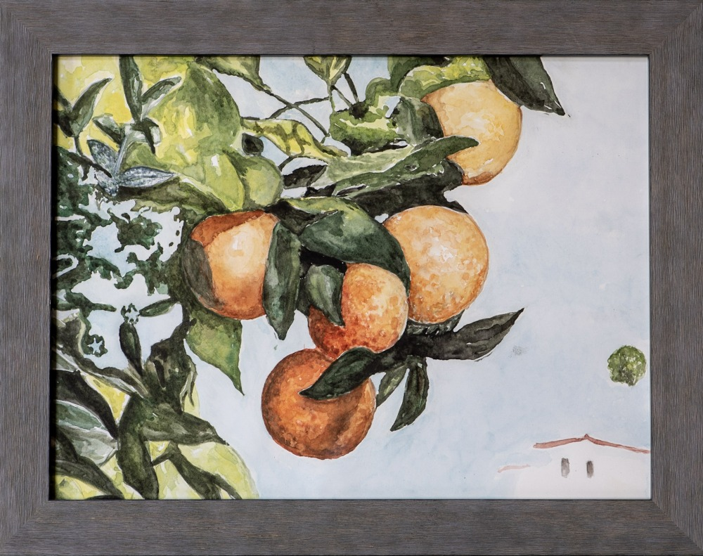 Oranges on a Branch (Inspired by Winslow Homer)