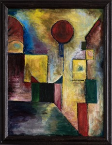 "Homage to Paul Klee's ""Red Balloon"""