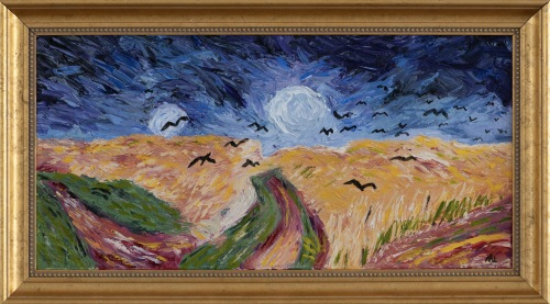 My Version of Wheat Fields with Crows (Inspired by Van Gogh)
