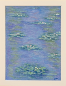 Lily Pond in the Style of Claude Monet
