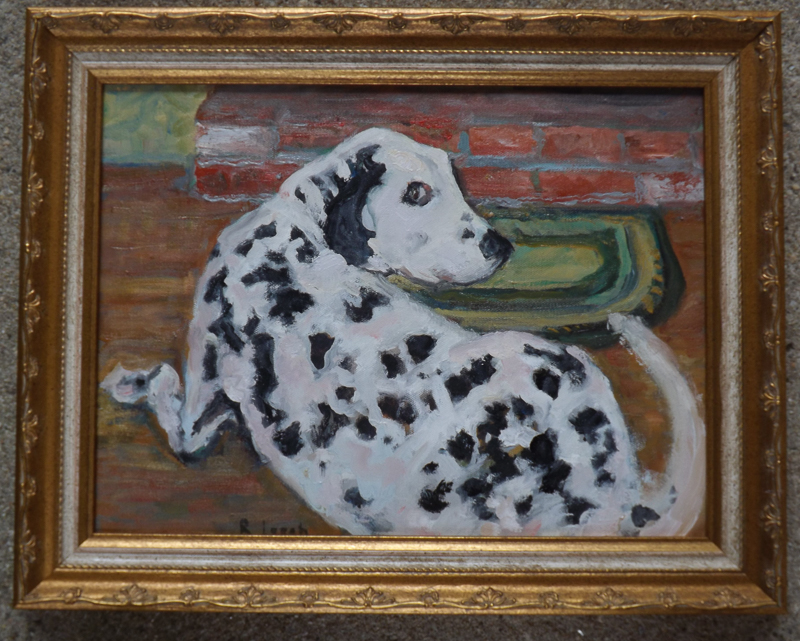 Ruth Leech | Sadie by the Hearth | oil | $200