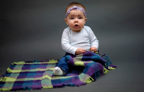 Beth Dill | Baby Blanket | twill weave, twisted fringe | NFS