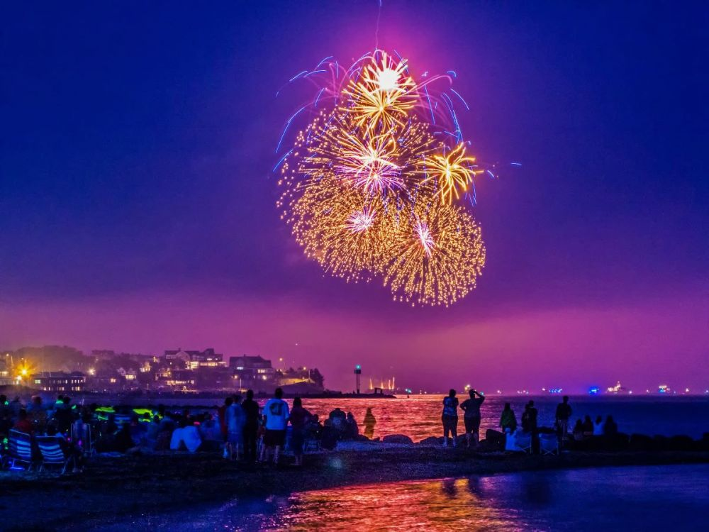 Fireworks off the Heights
