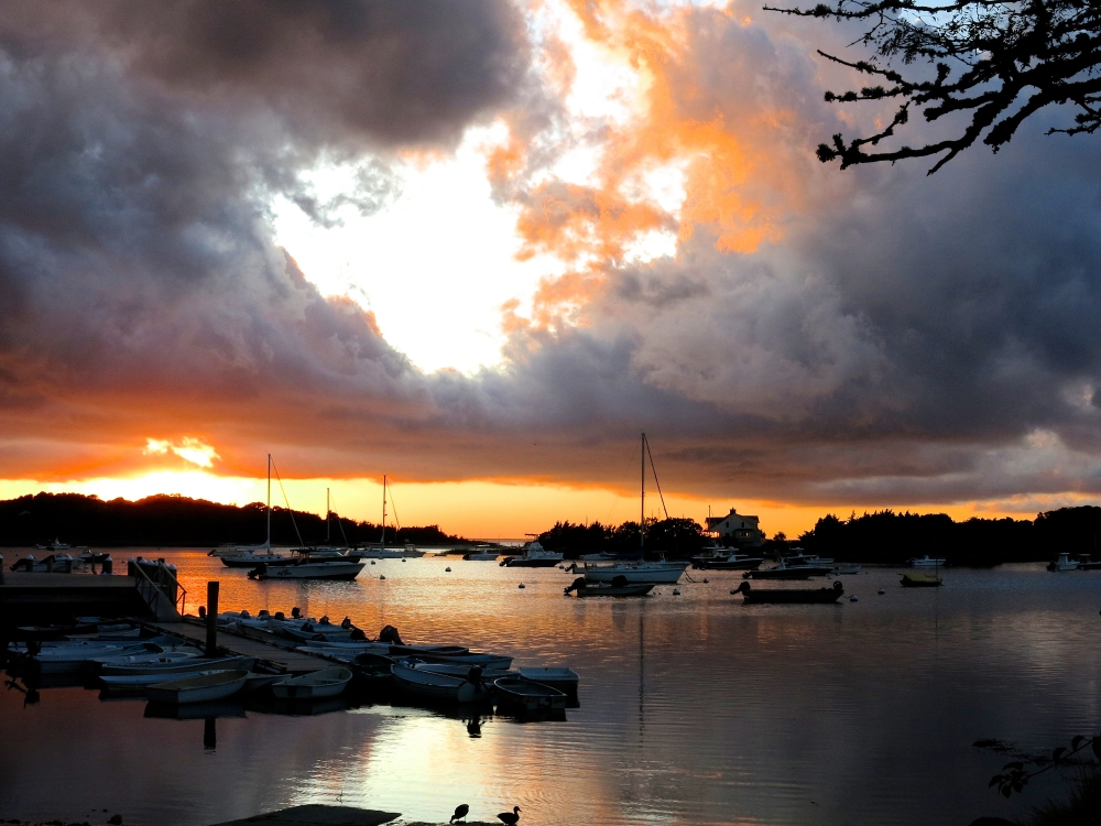 Sunset at West Falmouth Harbor
