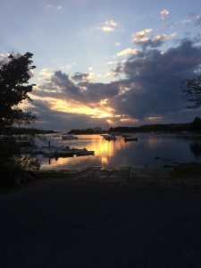 West Falmouth Harbor at Sunset