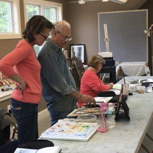 Watercolor instructor Andrew Kusmin
