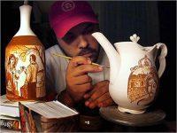 Ceramics instructor Seth Rainville