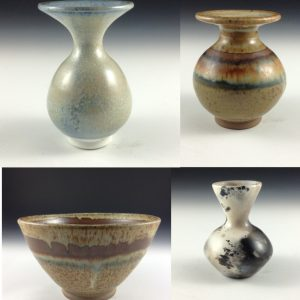 Ceramic pots made by Ron Dean
