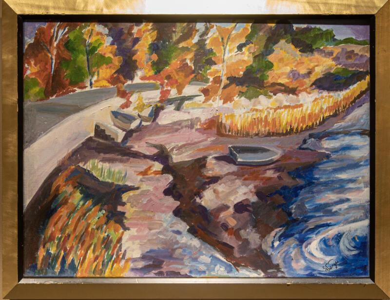 Quissett Harbor in the Fall | Susan Varga | Oil | $450