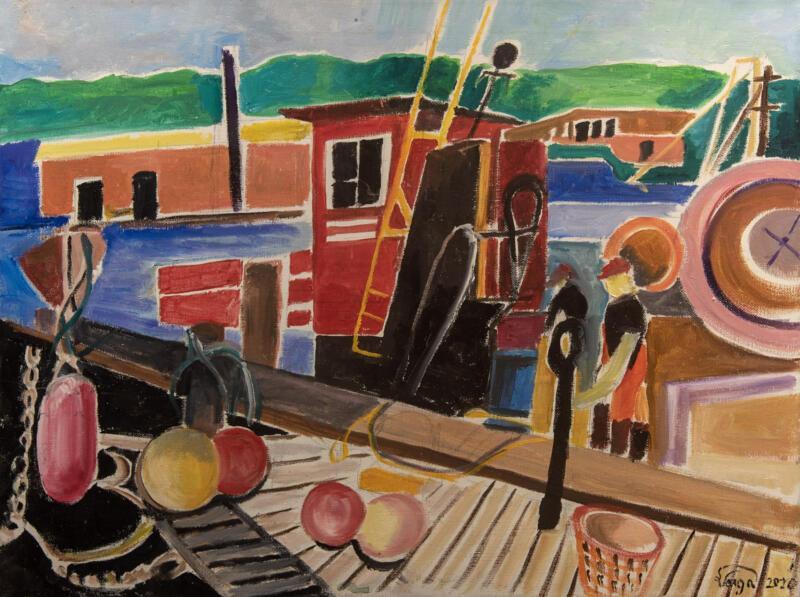 Dock in Woods Hole | Susan Varga | Oil | $250