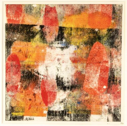 Marie Walsh  | Sliding Doors  | Monoprint  | $450