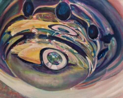 Mary Shiff  | Cord/Auburn Mashup  | Oil  |  $850